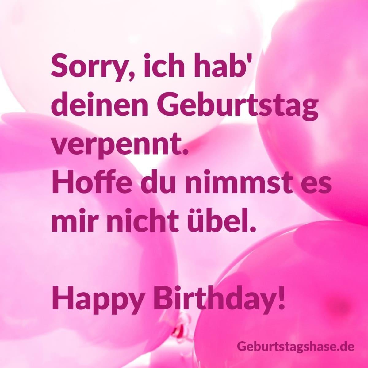 Sorry, ich hab' deinen Geburtstag verpennt. Hoffe du nimmst es mir nicht übel. Happy Birthday!