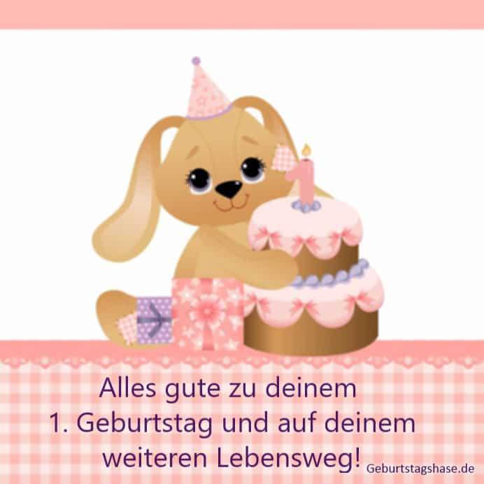 1. Geburtstag Kinder, Hund mit Torte